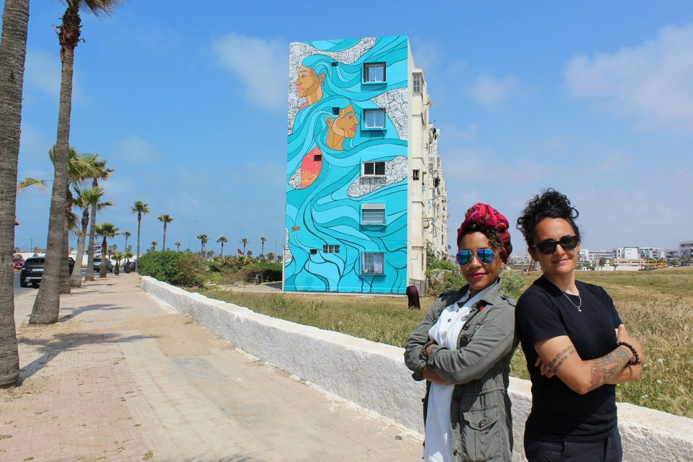 SAM KIRK'S OPEN LETTER TO HER YOUNGER SELF RECAPS HER RECENT TRIP TO MOROCCO WHERE SHE AND HER PARTNER PARTICIPATED AS THE FIRST FEMALE ARTISTS IN CASABLANCA'S CASAMOUJA STREET ART FESTIVAL . HIDING HER IDENTITY AND RELATIONSHIP BROUGHT BACK MANY PAST EXPERIENCES SHE DIDN'T EXPECT.