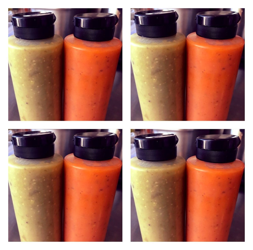 House made hot sauces
