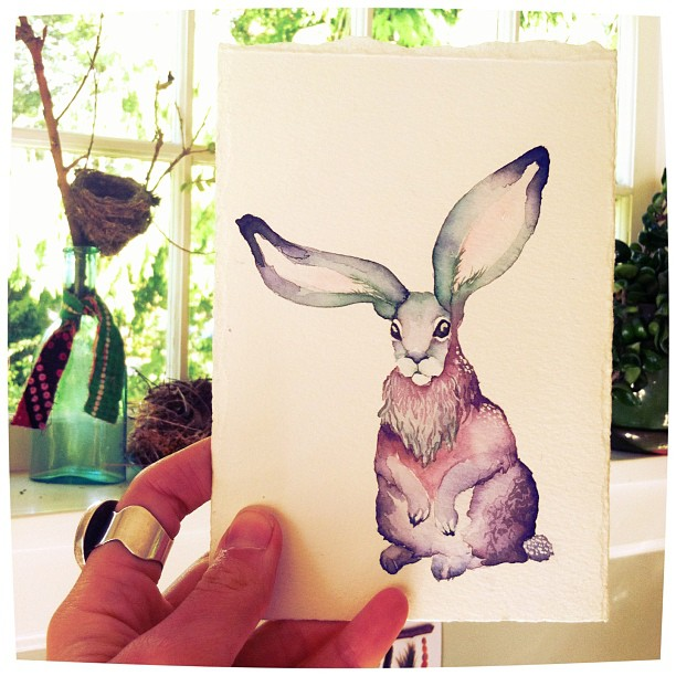 "Taking loads of artistic liberty with a ""realistic"" jackrabbit."