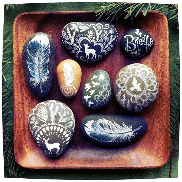 Messages: A collection of painted sea stones