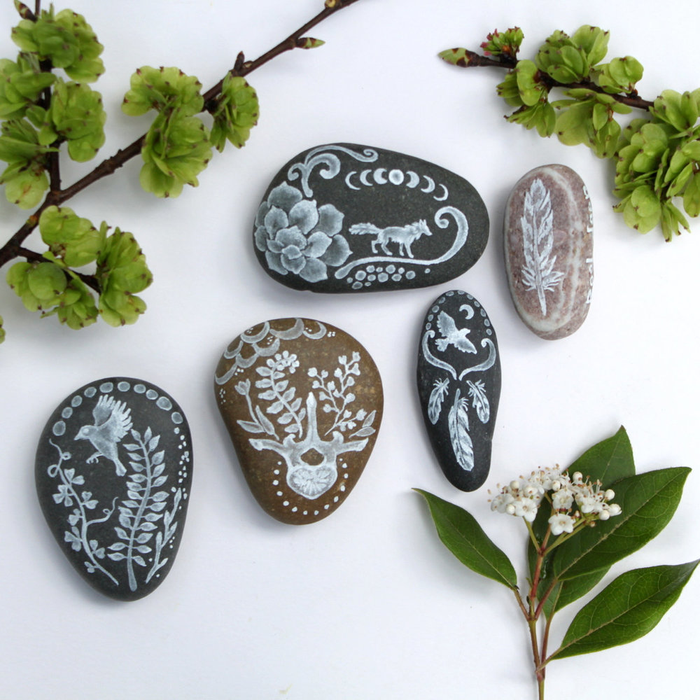 Messages, a collection of sea stones