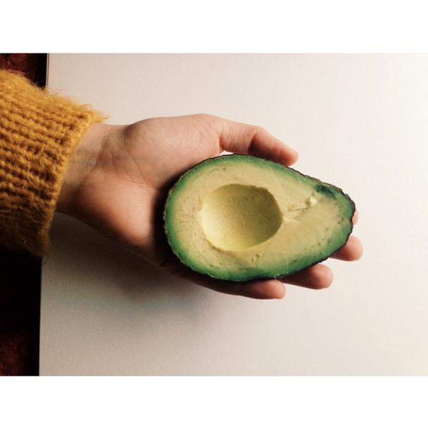 avocado hand Karen Cygnarowicz
