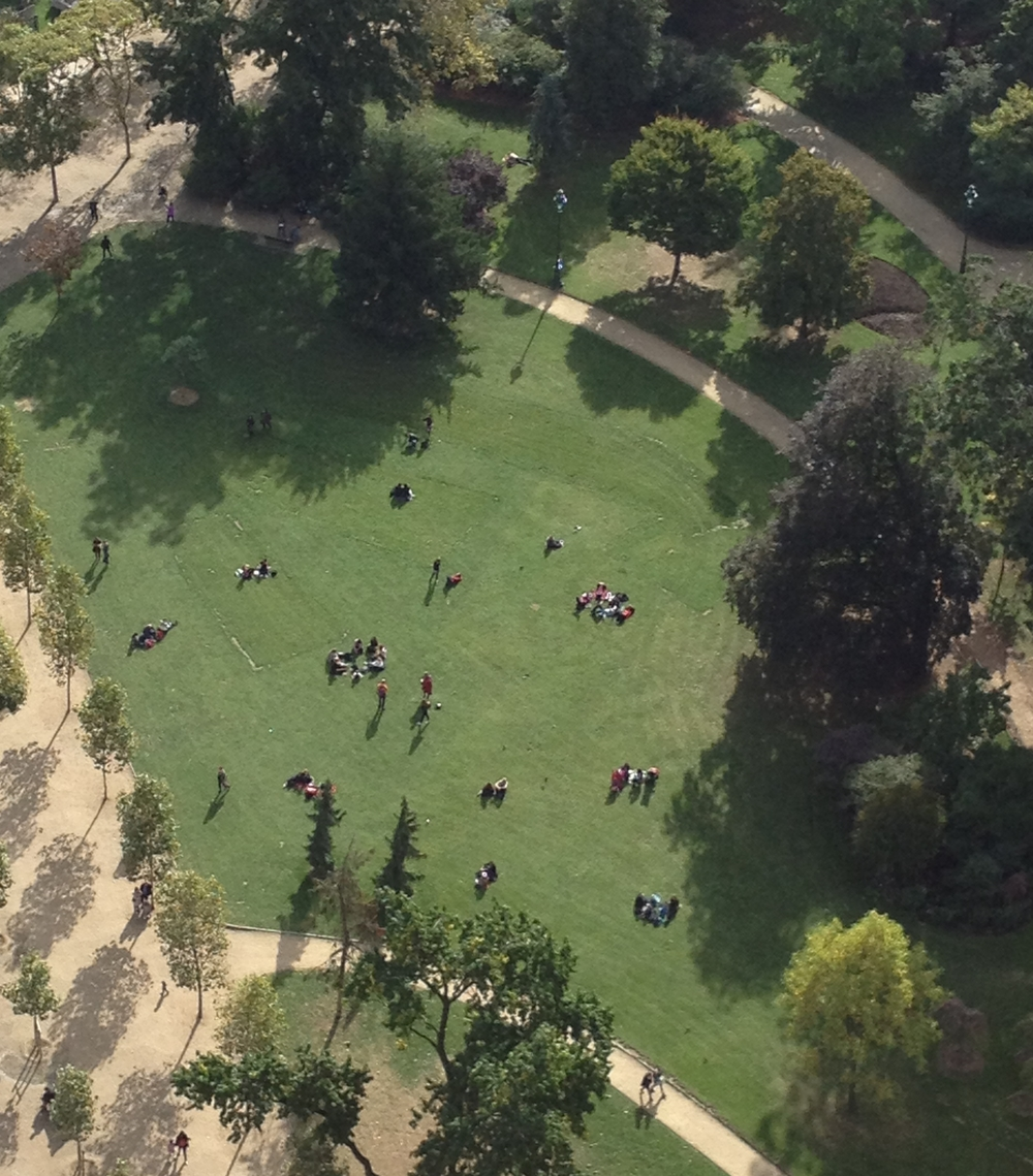 if you know my obsession with picnics, you know how happy i was to view them from above in the eiffel tower.