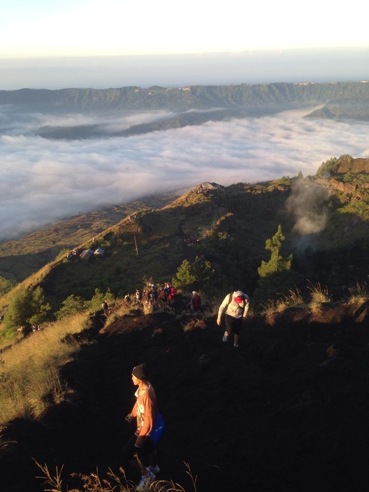 The walk back down Mt. Batur!