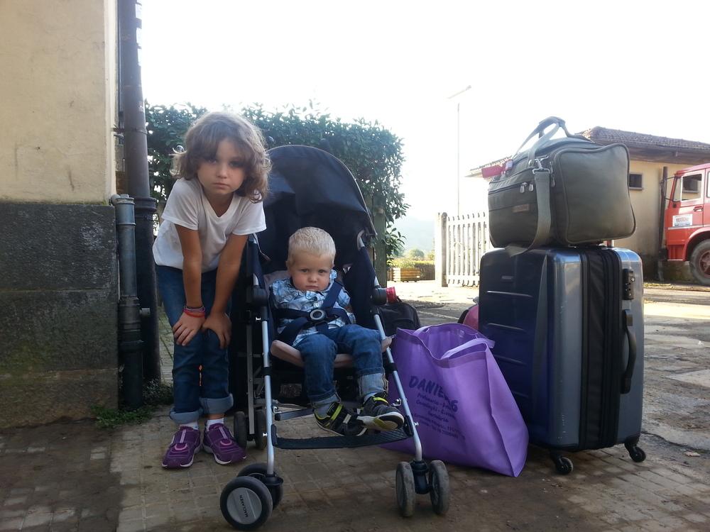 Arrival in Garfagnana. Barga-Gallicano Train Station.