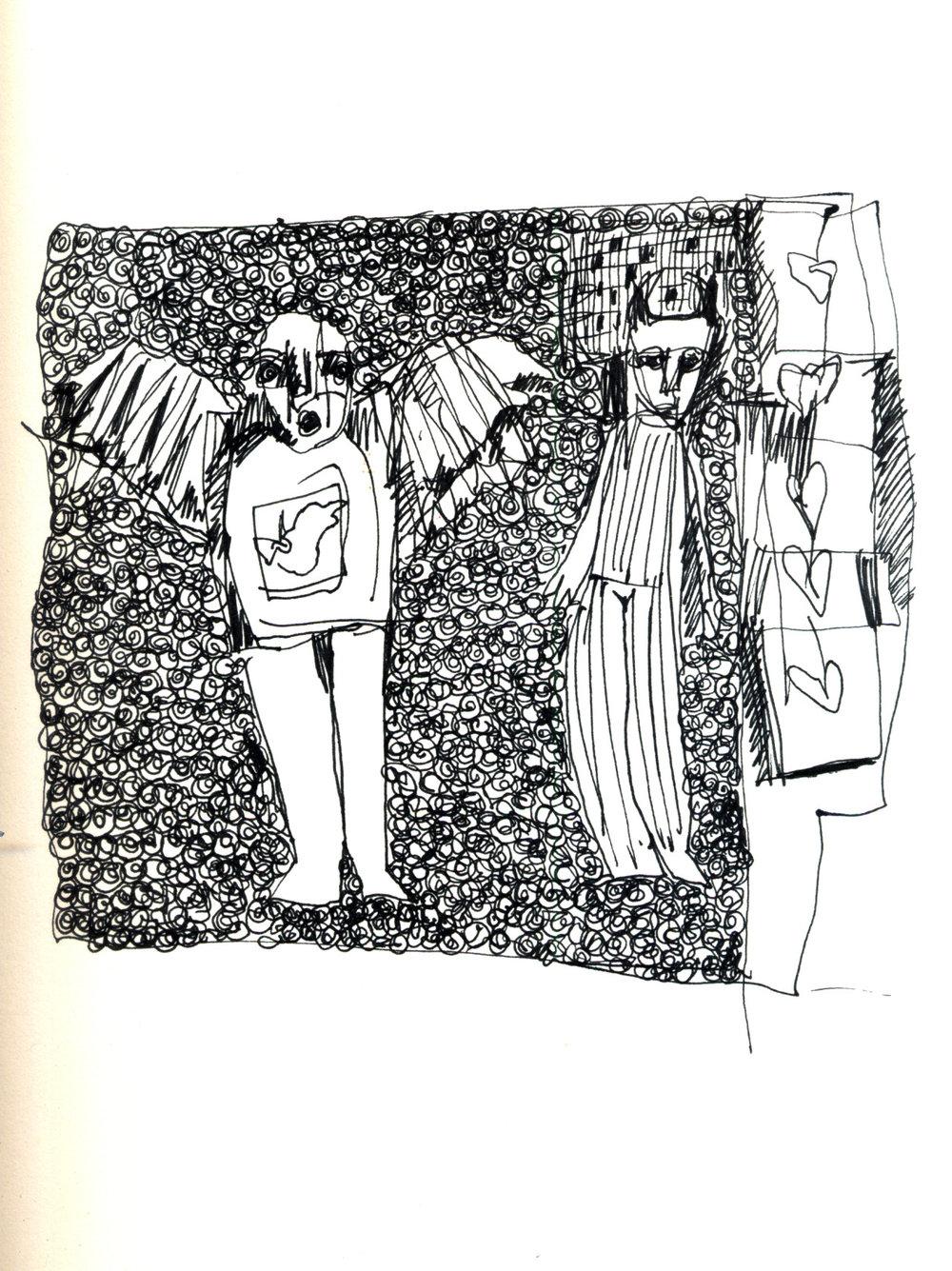 Heart Boxes Sketch by Giorgia Madiai Fuchs
