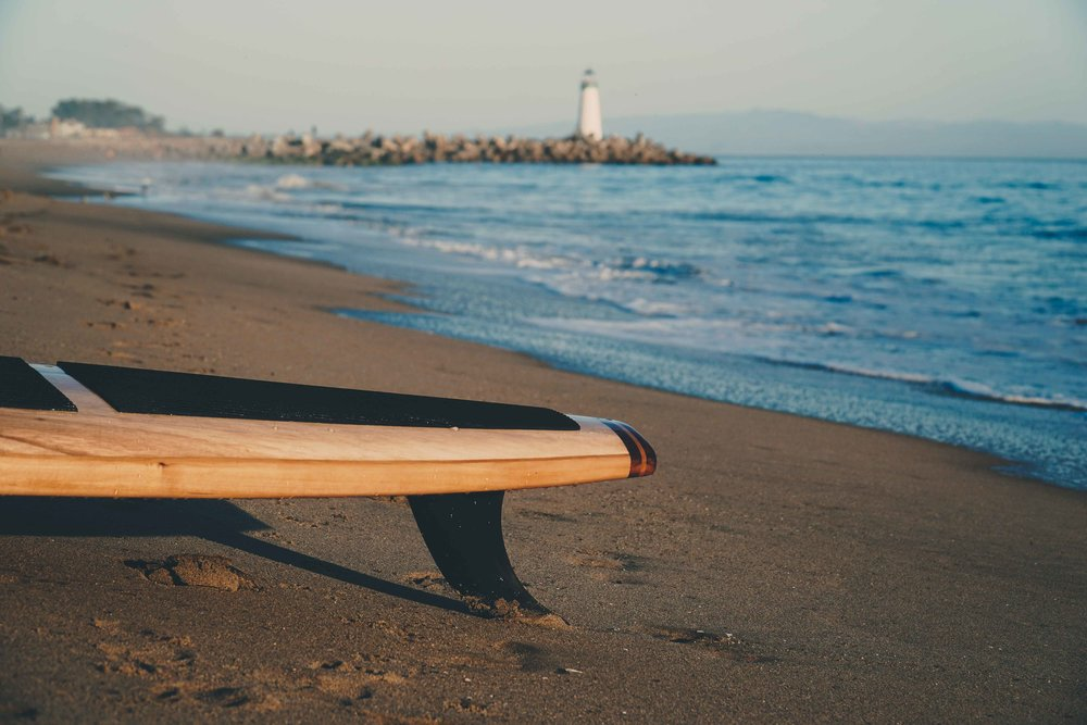 Wooden paddle board
