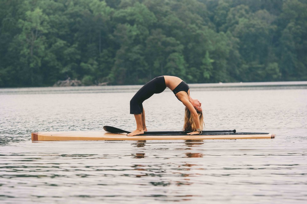 It's all about stability on a wooden paddle board!