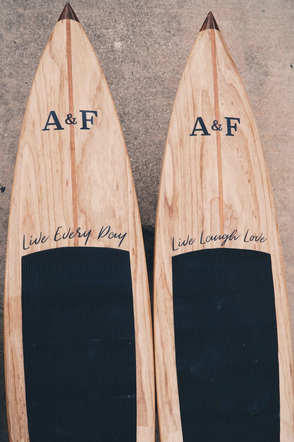 He was turning 40. She wanted matching paddle boards. Cheers to 40 more years!