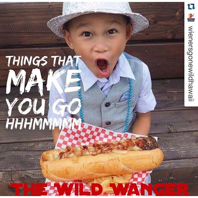 #Repost @wienersgonewildhawaii with @repostapp. ・・・ The Wild Wanger! 1/2 lb Black Angus all beef wiener on a toasted hoagie bun with bacon, sautéed onions & BBQ sauce all over! Grab one Saturday at Honolulu Night Market!  Mahalo @kidraiden808 for the perfect #WildWanger photo. #TheBiggestWienerOnTheIsland #GirlsJustWannaHaveFun #honolulunightmarket #kakaako #StreetGrindz #WildWanger