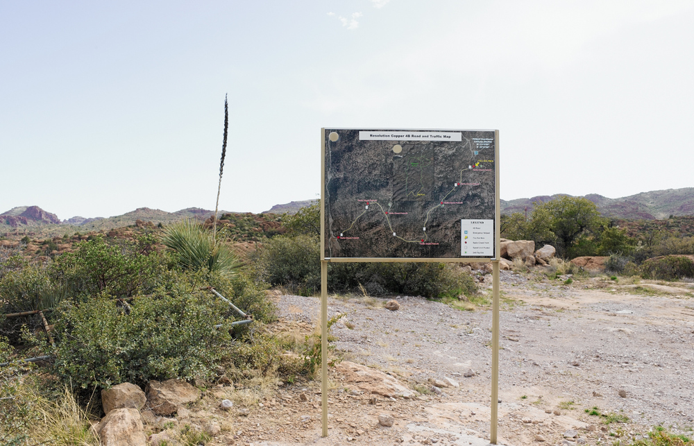 Map of the Resolution Mining radio and drill site