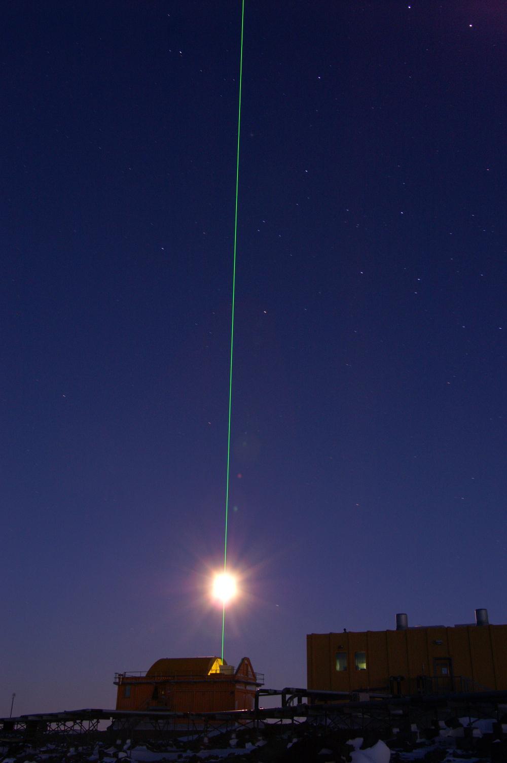 The LIDAR - measures the upper atmosphere