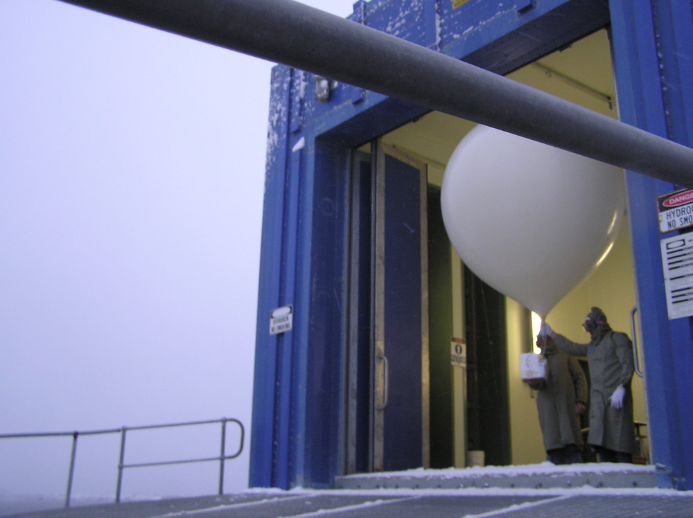 Releasing weather balloons