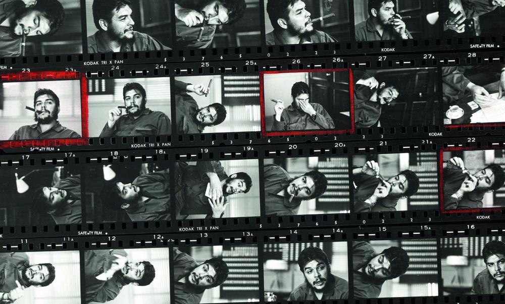 Rene Burri contact sheet for Che Guevara