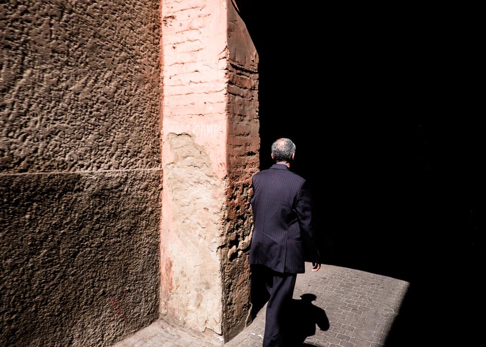 Marrakesh-Man-Walking-into-Shadow