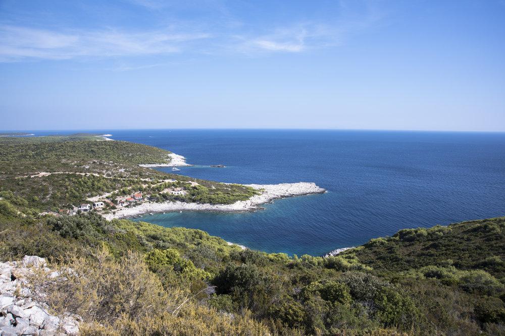 Blick auf die Südküste von Vis
