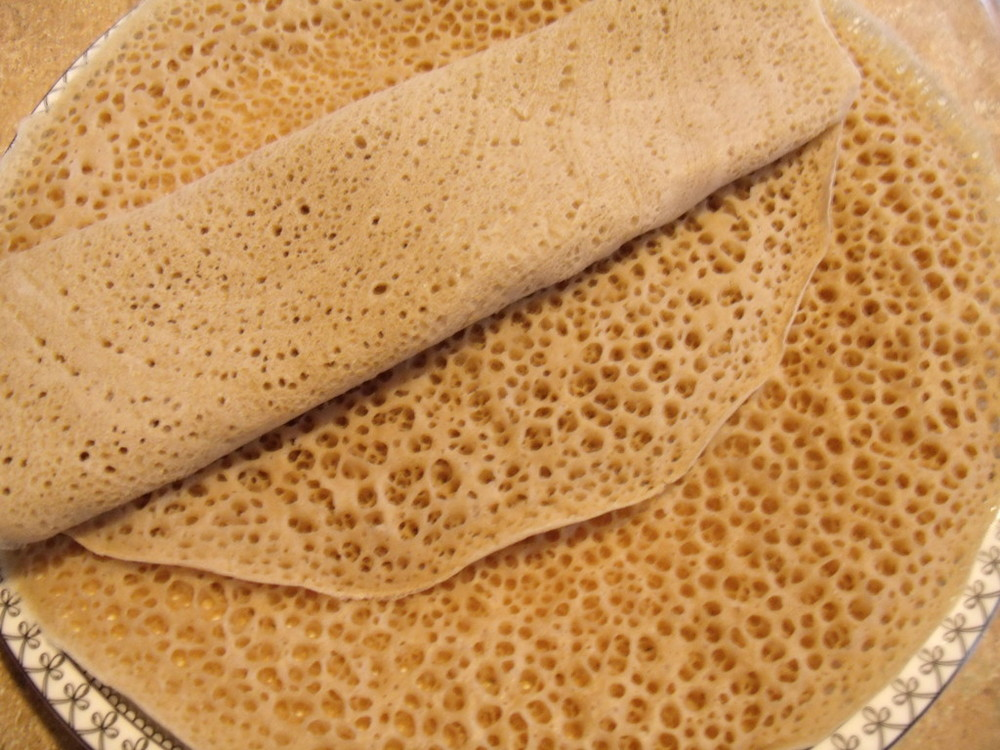 INJERA: Ethiopian flat bread made using teff flour