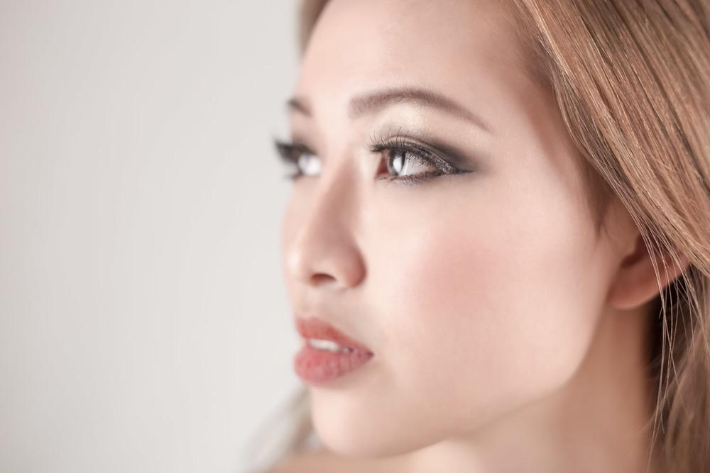 Beauty shot of woman yearning