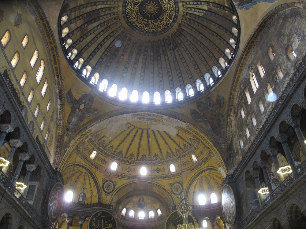 Inside the Hagia Sofia, Istanbul. Photo by Kim Kash