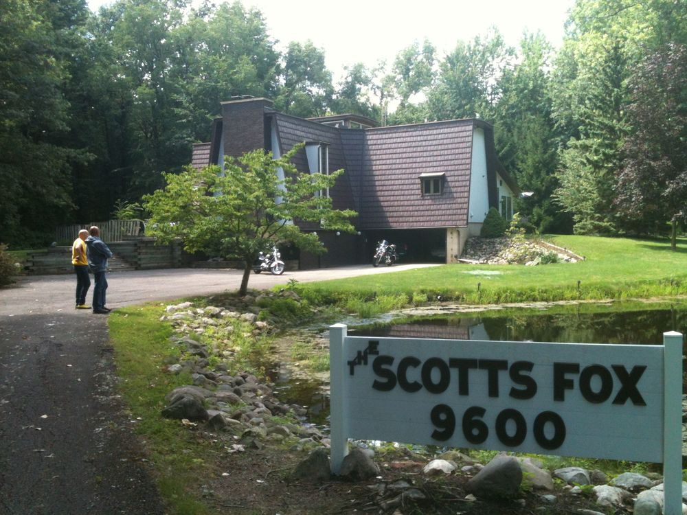Bill Mollema and Jefferson Kye at The Scotts Fox, in Scotts, Michigan, just outside of Kalamazoo