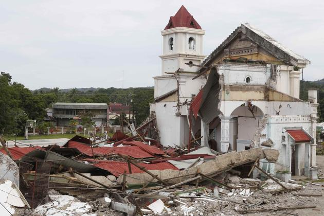 St. Michaels after the earthquake. Photo by Erik de Castro/Reuters