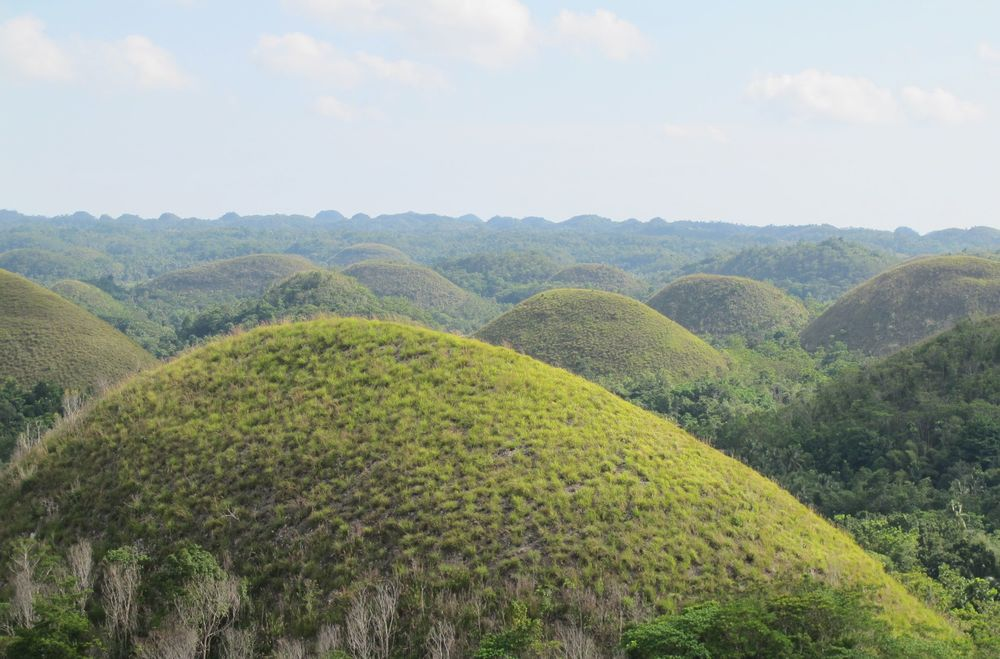 Chocolate Hills before the quake.