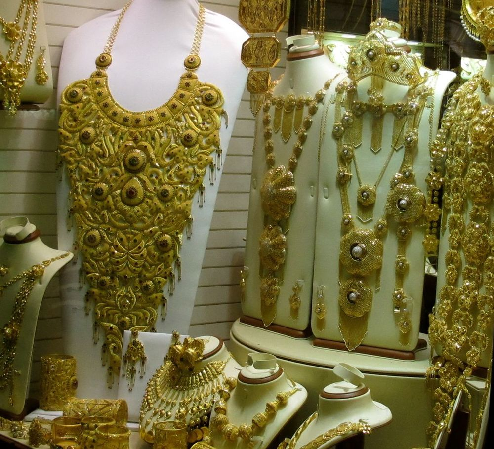 No knockoffs here: this may look like crazy costume jewelry, but it is not. This is the real deal at the gold souq.