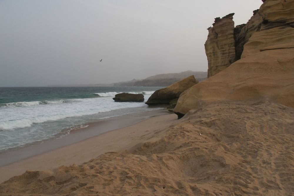 The beach at Ras Al Jinz
