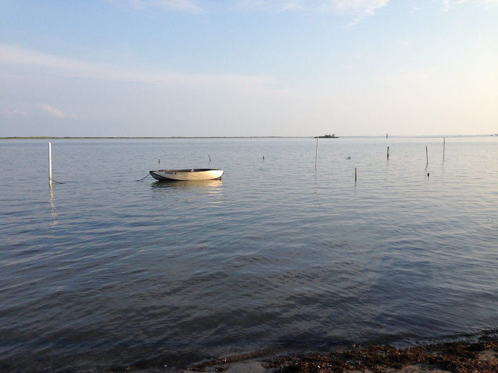 The view from West Ocean City, across Sinepuxent Bay to Assateague Island