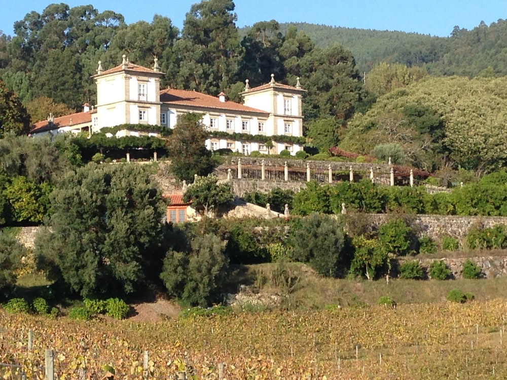 A view of Paco de Calheiros from its vineyard
