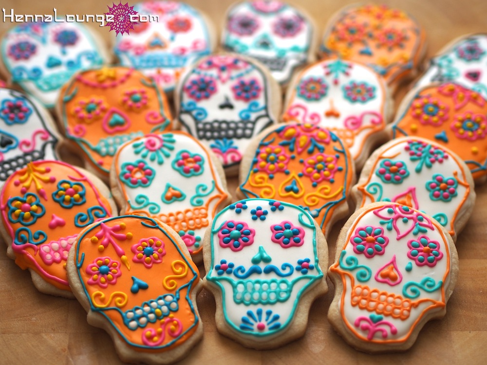 Sugar-skulls for Dia de los Muertos