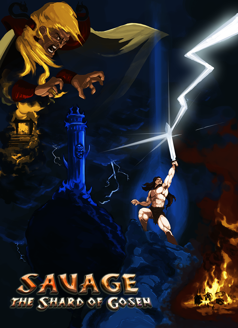 New boxart! In poster form! Inspired by (rip-off of) Frank Frazetta, Tom Jung