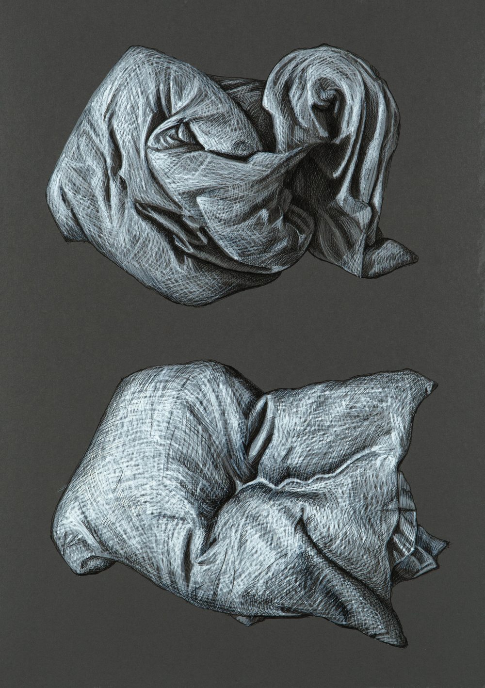 Pillow Study after Durer