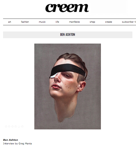 Feature on my work in Creem magazine. Click image to see.