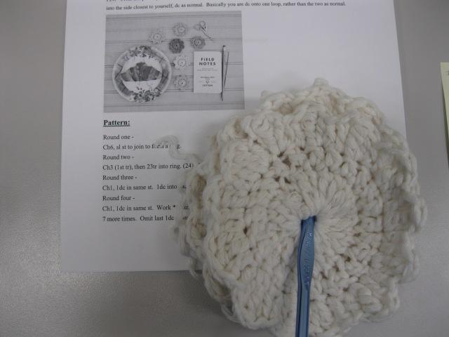 crocheted coasters @sneezerville