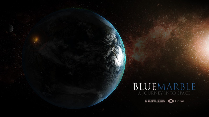 In-engine screenshot of Blue Marble for Oculus Rift.
