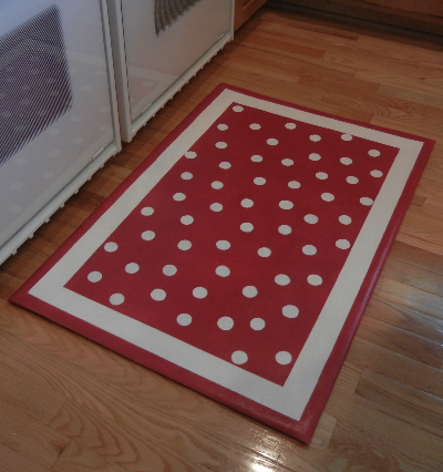 'Polka Dots' custom for a lake cottage, 2x3'