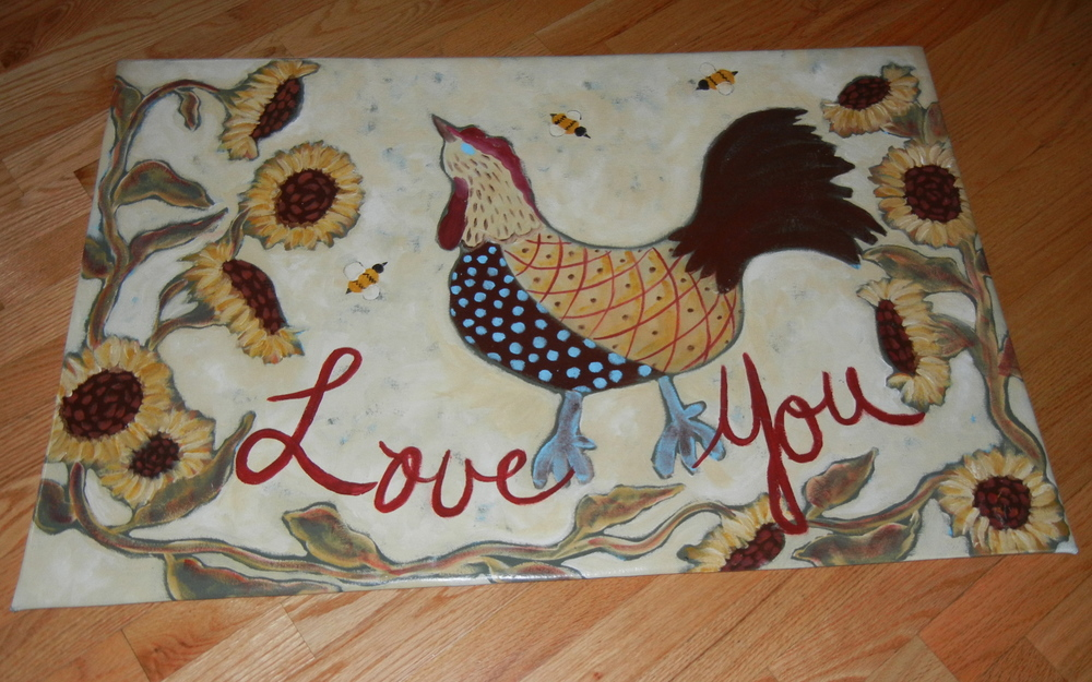 Love You Chicken 2x3'