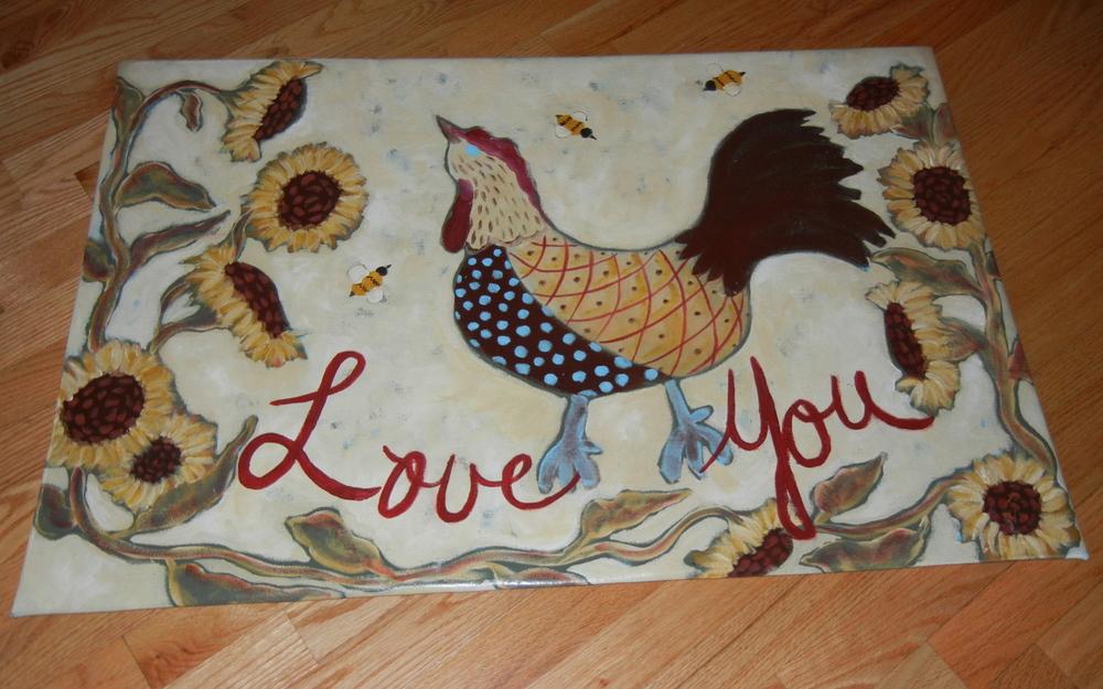 Love You Chicken 2x3'