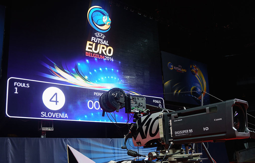 X10 at UEFA Futsal Euro 2014 in Antwerp in February 2014