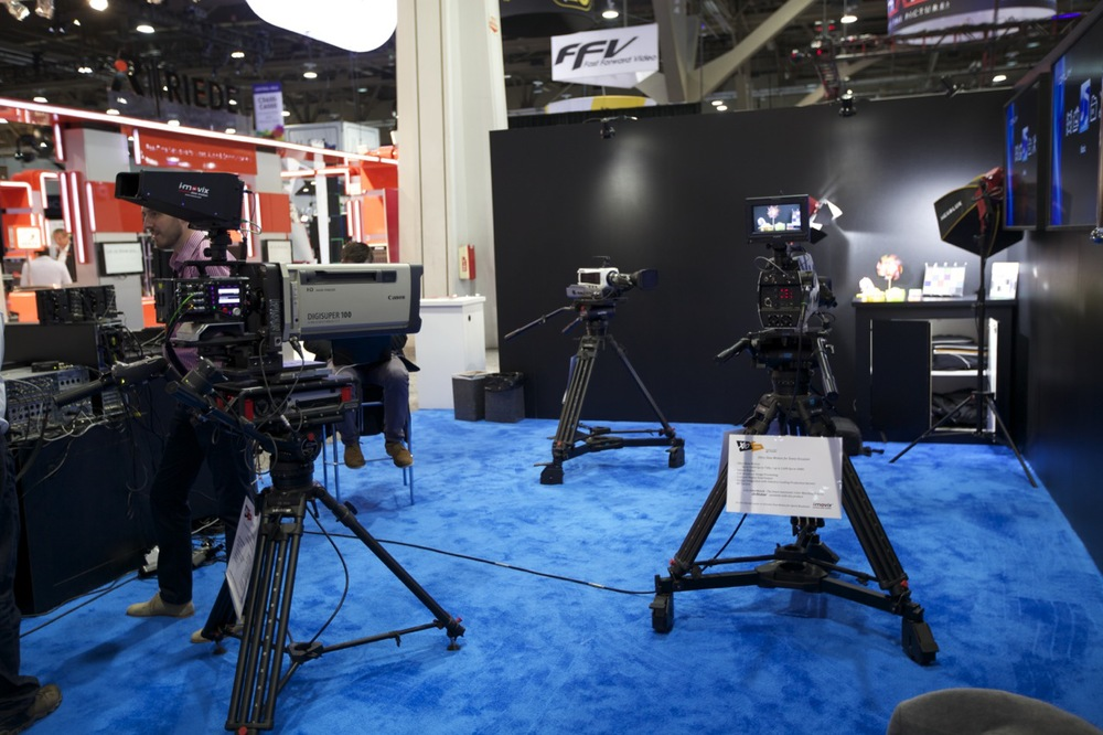 The booth with X10 USM, X10 UHD and X10 Spine