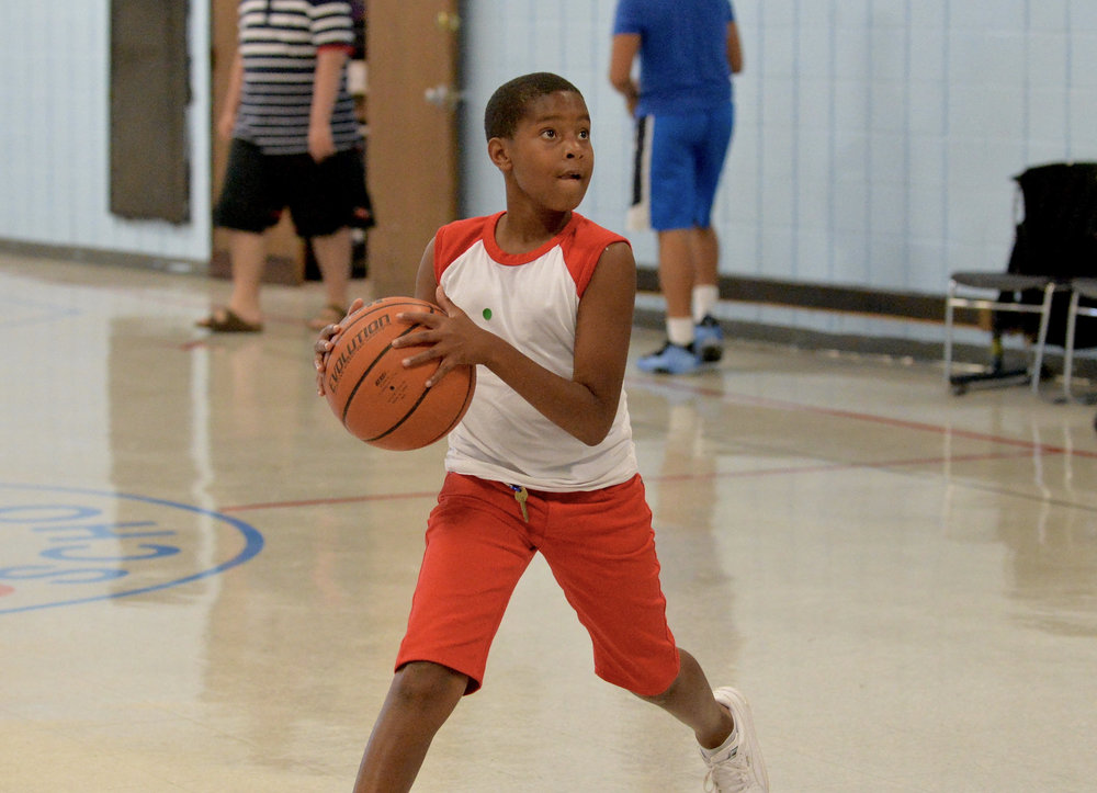 League School Basketball Player