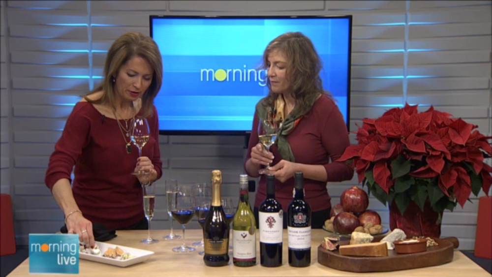 Having fun with wine and cheese pairings with  Lesley Stewart  of  CHCH Morning Live .