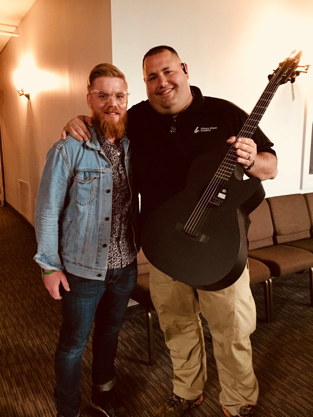 Jesse Werzinger (Grace Road Worship Director & GFG Team Member) with Matt Scally.
