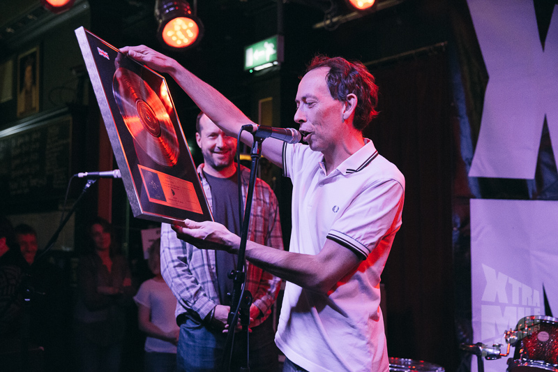 Charlie and Steve Lamacq at Xtra Mile Recordings 10th birthday.  Photo by Ben Morse.