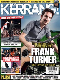 Frank's first Kerrang! cover.