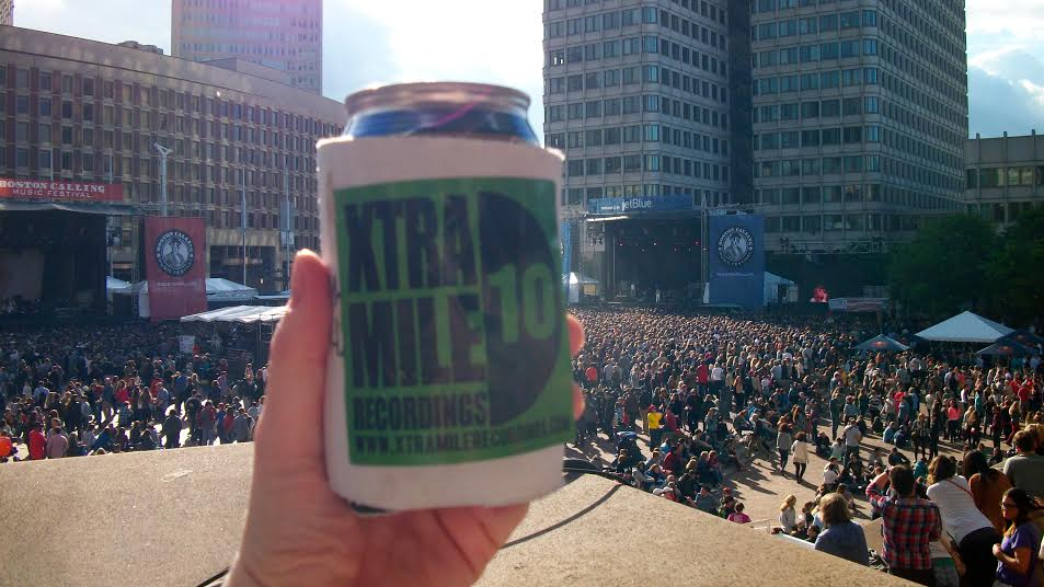 Traci's homemade XMR koozie at Boston Calling festival