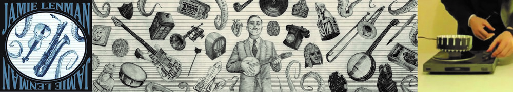 Jamie Lenman's 'It's Hard To Be A Gentlemen/All The Things You Hate About Me, I Hate Them Too' zoetrope and  Muscle Memory  artwork