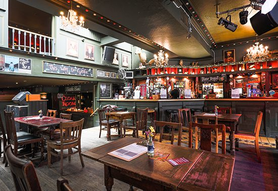 Inside of The Monarch, Camden