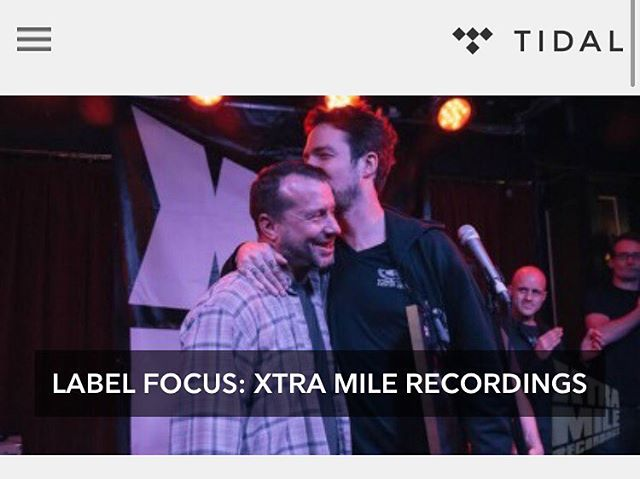 We're featured on @tidal's Label Focus! Head over to read.tidal.com to check out the interview with our founder, Charlie, and listen to our exclusive playlist!  #xtramilerecordings #xtramile #tidal #labelfocus #frankturner